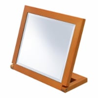 ORE International 8  Wood Adjustable Make-Up Mirror in Brown And Walnut - 1