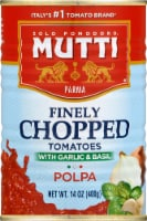 Mutti Polpa Finely Chopped Tomatoes with Garlic & Basil - 14 oz