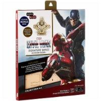 IncrediBuilds Marvel Captain Marvel Civil War 3D Wood Model and Book - 1