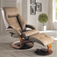 Relax-R MONTREAL058024 Montreal Recliner & Ottoman, Sand Tan