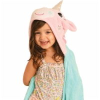 ZOOCCHINI Kids Plush Terry Hooded Bath Towel - Allie the Alicorn - One Size