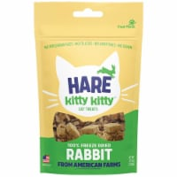 Hare 41300573 0.9 oz 100 Percent Rabbit Frizzled Treat for Cat - 1