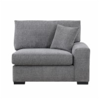 Sitswell Harmony Right Hand Facing Gray Chair Sectional - 1 ct