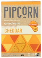 Pipcorn Cheddar Heirloom Snack Crackers