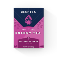 Zest Tea Superberry Samba Energy Green Tea - 15 ct