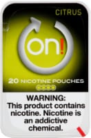 on! Citrus Nicotine Pouches