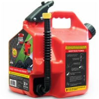 SureCan 2 Gallon Controlled Flow Gasoline Fuel Can with Rotating Nozzle, Red - 1 Piece