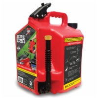 SureCan 5 Gallon Controlled Flow Gasoline Fuel Can with Rotating Nozzle, Red - 1 Piece