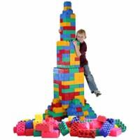 Serec Entertainment 8-55486-00215-0 Jumbo Blocks Preschool Play Set, 872 Pieces - 872