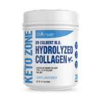 Divine Health Keto Zone Unflavored Hydrolyzed Collagen Protein Powder