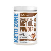 Divine Health Keto Zone Hazelnut Flavored MCT Oil Protein Powder