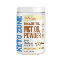 Divine Health Keto Zone French Vanilla Flavored MCT Oil Protein Powder