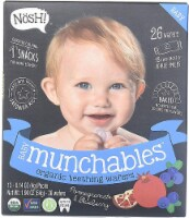 Nosh  Baby Munchables Teething Wafers - Blueberry & Pomegranate