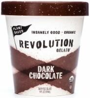 Revolution Gelato Plant-Based Organic - Dark Chocolate Vegan Ice Cream (8 Count) - 8 ea
