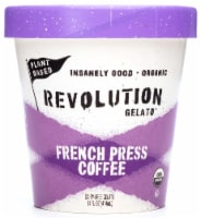 Revolution Gelato Plant-Based Organic - French Press Coffee Vegan Ice Cream (8 Count) - 8 ea