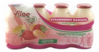 Viloe Life Strawberry Banana Dairy Drinks - 4 ct / 3.3 oz