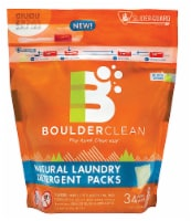 Boulderclean Valencia Orange Natural Laundry Detergent Packs 34 Count