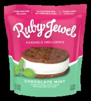 Ruby Jewel Dark Chocolate Cookie + Fresh Mint Ice Cream Sandwich