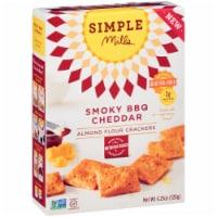 Simple Mills Gluten Free Smoky BBQ Cheddar Almond Flour Crackers