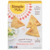 Simple Mills Himalayan Salt Veggie Pita Crackers - 4.25 oz