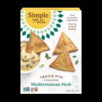 Simple Mills Mediterranean Herb Veggie Pita Crackers - 4.25 oz