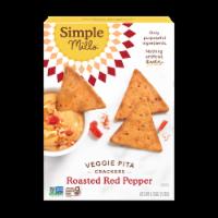 Simple Mills Roasted Red Pepper Veggie Pita Crackers - 4.25 oz