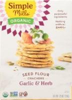 Simple Mills Organic Seed Flour Crackers - Garlic & Herb - 4.25 oz