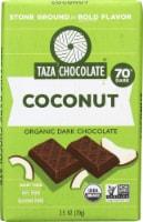 Taza Chocolate Coconut Organic Dark Chocolate Bar