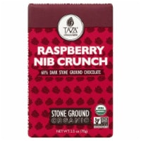Taza Chocolate Stone Ground  Raspberry Nib Crunch Dark Chocolate Bar - 2.5 oz