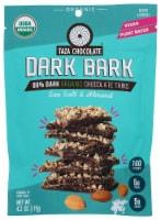 Taza Chocolate Dark Bark Sea Salt & Almond Organic Dark Chocolate Thins - 4.2 oz