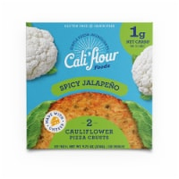 Cali'flour Foods Spicy Jalapeno Cauliflower Pizza Crusts 2 Count