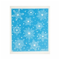 Wet-It Cellulose & Cotton Snow Flakes Dish Cloth - Blue/White