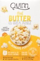 Quinn® Butter & Sea Salt Microwave Popcorn - 2 ct / 3.5 oz