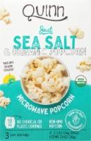 Quinn® Just Sea Salt Microwave Popcorn - 3 ct / 2.3 oz