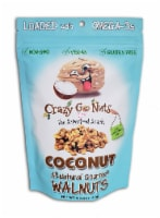 Crazy Go Nuts Coconut Flavored All-Natural Gourmet Walnuts