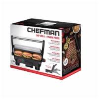 Chefman Grill and Panini Press - Black/Silver - 1 ct