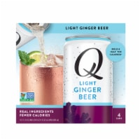 Q Mixers Light Ginger Beer - 4 cans / 7.5 fl oz