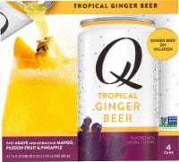 Q Drinks Tropical Ginger Beer - 4 cans / 7.5 fl oz