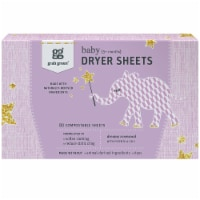 Grab Green Baby Dreamy Rosewood Dryer Sheets - 80 ct