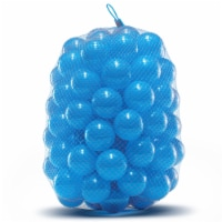 Crush Proof Plastic Trampoline Pit Balls 100 Pack - Blue