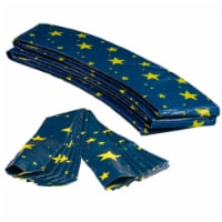 Round Trampoline Appearance Set, 16' Safety Pad with 12-pole Sleeve Covers - Starry Night