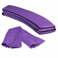 Round Trampoline Appearance Set, 8' Safety Pad with 8-pole Sleeve Covers - Purple