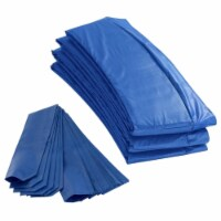 Round Trampoline Appearance Set, 14' Safety Pad with 12-pole Sleeve Covers - Blue