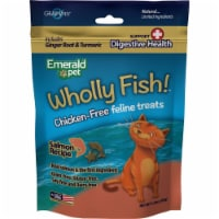 Emerald Pet Products 00641-CFSH 3 oz Wholly Fish Chicken-Free Cat Treats - Salmon DH, 12 PK - 1