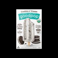 Goodpop Cookies N' Cream Organic Frozen Pops - 4 ct / 2.5 fl oz