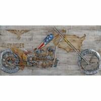 Motor bike Metal Art by Urban Port - 1 unit