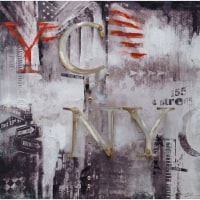 Abstract Styled NY Oil Painting by Urban Port - 1 unit