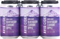 Avid Cider Company Blackberry Currant Apple Hard Cider - 6 cans / 12 fl oz