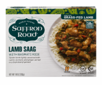 Saffron Road Lamb Saag with Basmati Rice Cuisine Frozen Meal