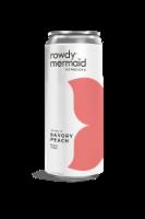 Rowdy Mermaid Savory Peach Kombucha Beverage - 12 fl oz